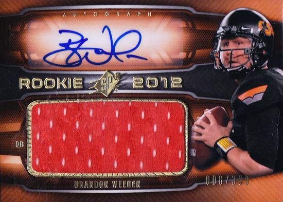2012-Upper-Deck-SPx-Brandon-Weeden-Autograph-Rookie-Jersey-Card