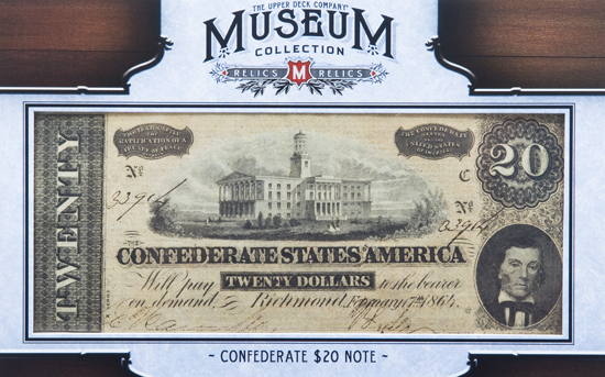 2012-Upper-Deck-Goodwin-Champions-Civil-War-Confederate-20-Note-Bill