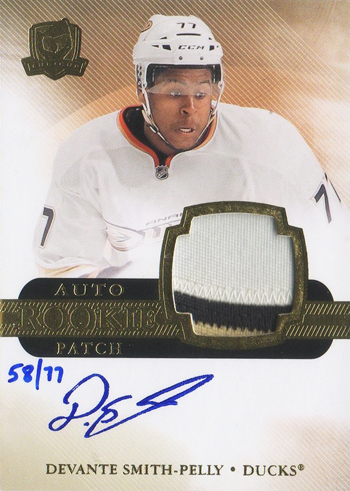 2011-12-NHL-The-Cup-Upper-Deck-Devante-Smith-Pelly-Ducks-Autograph-Error-Card