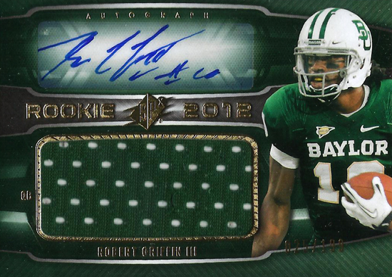 2012-Collectors-Choice-Awards-Autograph-Card-Year-SPx-Robert-Griffin-III-Autograph-Jersey