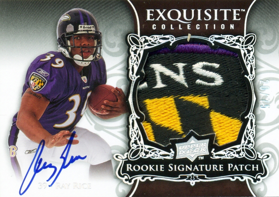 2008-Upper-Deck-Exquisite-Autograph-Rookie-Patch-Ray-Rice