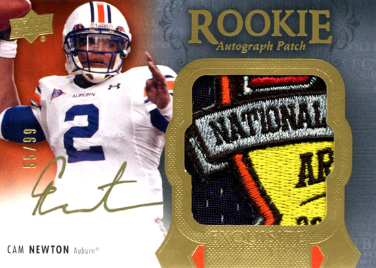 2011-Exquisite-Collection-Football-Autograph-Patch-Card-One-of-One-Cam-Newton