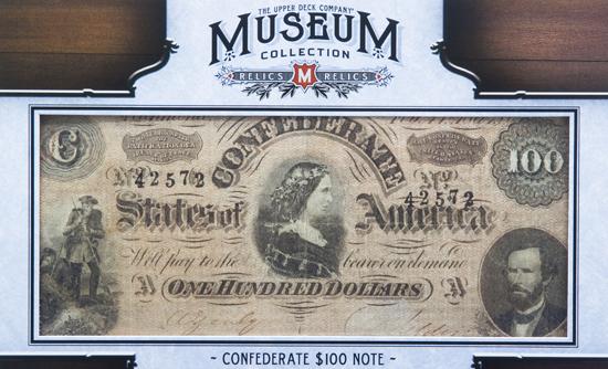 2012-Upper-Deck-Goodwin-Champions-Civil-War-Confederate-100-Note-Bill