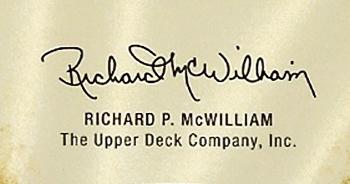 Richard McWilliam Upper Deck CEO Signature