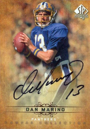 2012-SP-Authentic-Football-Short-Print-List-Canvas-Autograph-Dan-Marino
