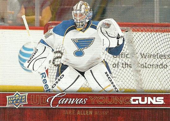 2012-13-NHL-Upper-Deck-Canvas-Young-Guns-Jake-Allen