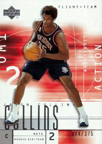 First-Gay-Athlete-Jason-Collins-2001-02-Flight-Team-Rookie-Action-Card