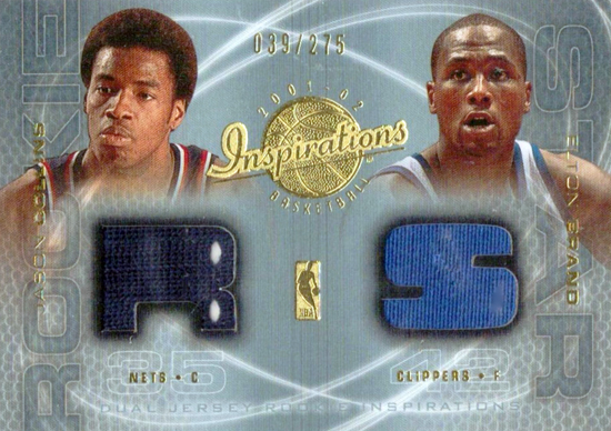 First-Gay-Athlete-Jason-Collins-2001-02-Rookie-Inspirations-Dual-Jersey-Card-Card