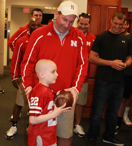 Jack-Hoffman-Receives-Game-Ball-from-Coach-Nebraska