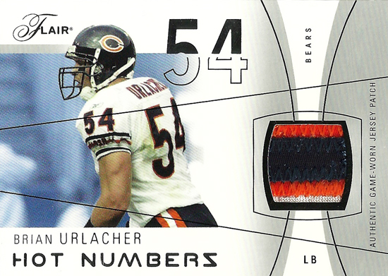 2004-Flair-Hot-Numbers-Game-Worn-Jersey-Brian-Urlacher-Card