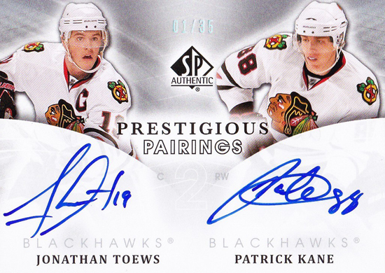 Chicago-Blackhawks-11-12-NHL-SP-Authentic-Prestigous-Pairings-Toews-Kane-Autograph-Card