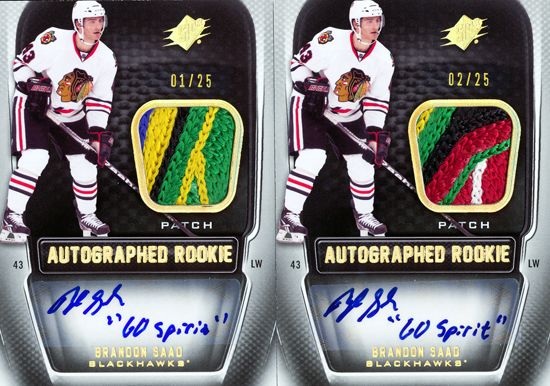 Chicago-Blackhawks-11-12-NHL-SPx-Brandon-Saad-Autograph-Rookie-Patch-Cards