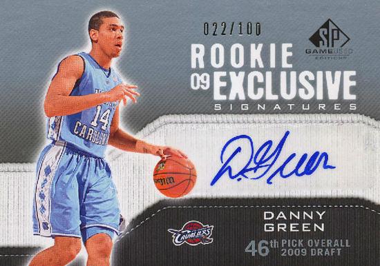 2009-10-NBA-Danny-Green-San-Antonio-Spurs-Autograph-SP-Game-Used-Edition-Card
