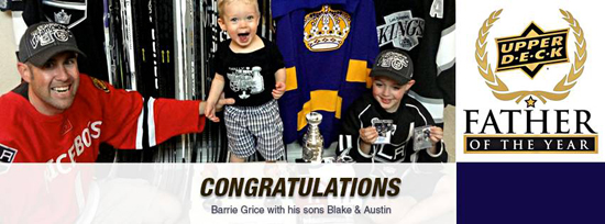 2013-Upper-Deck-Father-of-the-Year-Winner-Barrie-Grice-Kids-Congratulations