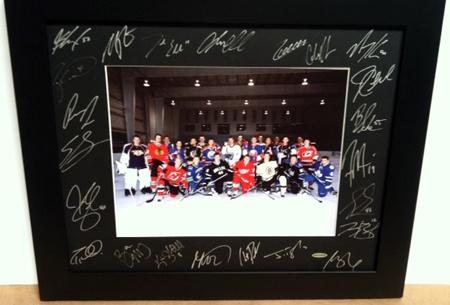 2010-NHLPA-Rookie-Showcase-Autograph-Upper-Deck-Framed-Photo-Black-Mat