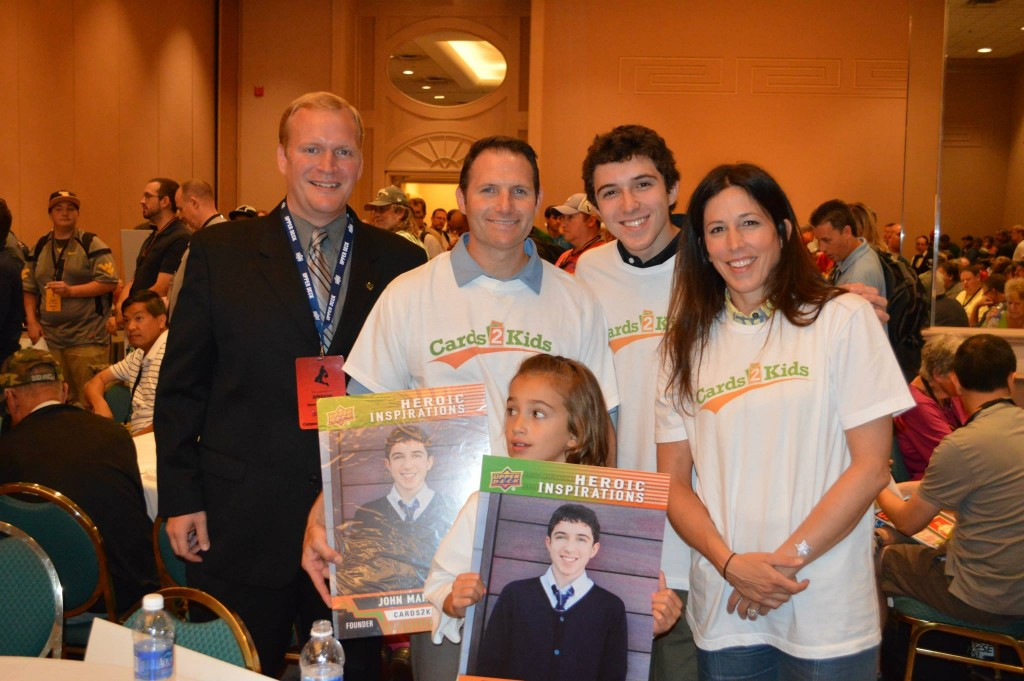 2013-National-Sports-Collectors-Convention-Cards2Kids-John-Makowiec-Founder-Family-Chris-Carlin-Upper-Deck