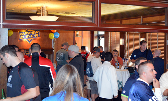 2013-National-Sports-Collectors-Convention-Diamond-Club-Reception-Busy-2