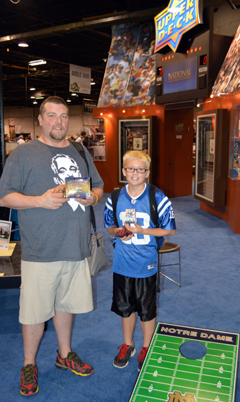 2013-National-Sports-Collectors-Convention-Notre-Dame-Pack-Cornhole-Tournament-winners