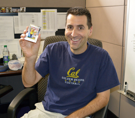 2013-Upper-Deck-CLC-College-Colors-Day-Celebration-Josh-Zusman-Hockey-Brand-Manager-Cal