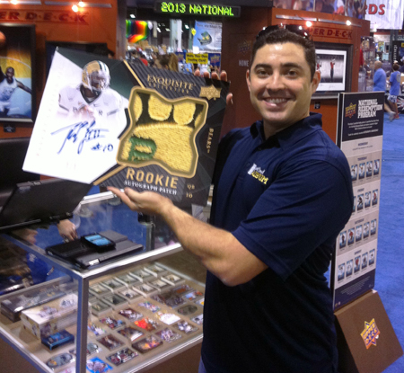 Upper-Deck-Booth-National-Sports-Collectors-Convention-Sergio-Dubois-Robert-Griffin-III-Blow-Up