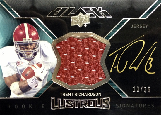 2012-Exquisite-Collection-Football-Rookie-Autograph-Jersey-UD-Black-Trent-Richardson
