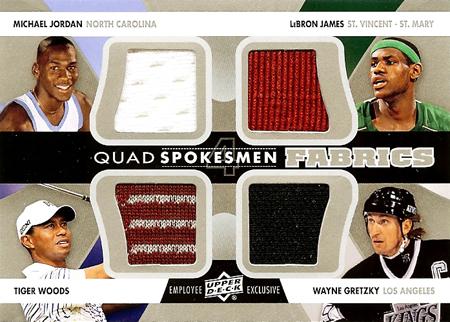 2013-Upper-Deck-Employee-Quad-Memorabilia-Card-Jordan-LeBron-Tiger-Gretzky