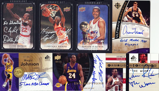 Amazing-Best-Upper-Deck-Basketball-NBA-Collection-Cards-Autograph-Game-Used-Exquisite-Inscription