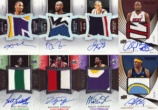 Amazing-Best-Upper-Deck-Basketball-NBA-Collection-Cards-Autograph-Game-Used-Exquisite-Limited-Logos