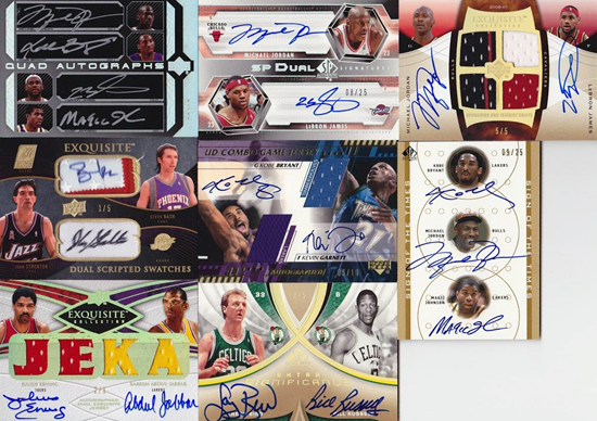 Amazing-Best-Upper-Deck-Basketball-NBA-Collection-Cards-Autograph-Game-Used-Exquisite-Multi-Signed-Jordan-LeBron