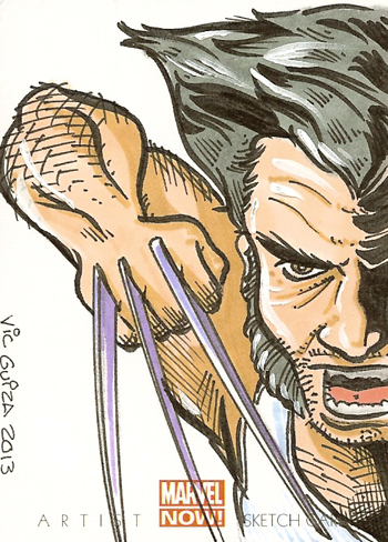 2014-Marvel-NOW-Upper-Deck-Vic-Guiza-Sketch-Card-Wolverine-Logan