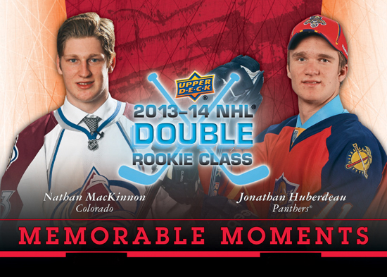 2014-National-Hockey-Card-Day-Canada-Upper-Deck-Memorable-Moments-MacKinnon-Huberdeau