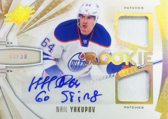 2013-14-NHL-SPx-Upper-Deck-Autograph-Rookie-Jersey-Nail-Yakupov-Inscription