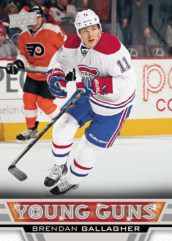 2013-14-NHL-Upper-Deck-Series-Two-Young-Guns-Brendan-Gallagher