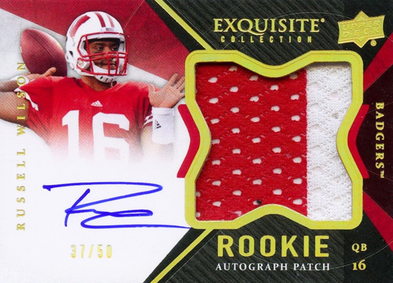 Seattle-Seahawks-2012-Exquisite-Collection-Russell-Wilson-Upper-Deck-Autogaph-Rookie-Patch