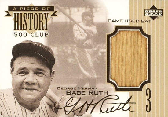 Upper-Deck-25th-Anniversary-Collector-Memories-1999-Upper-Deck-Piece-of-History-Babe-Ruth