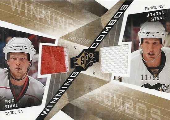 Upper-Deck-25th-Anniversary-Collector-Memories-Jordan-Eric-Staal-Dual-SPx-Jersey-Card