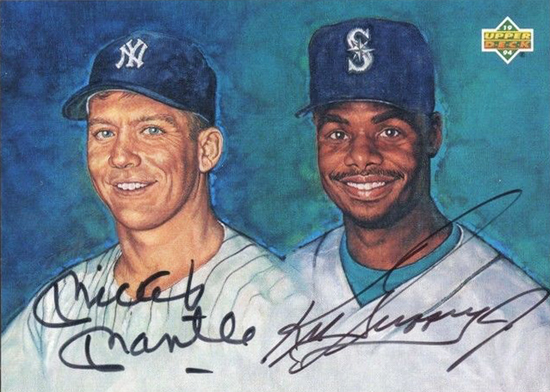Upper-Deck-25th-Anniversary-Collector-Memories-Mantle-Griffey-1994-Dual-Autograph