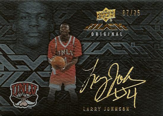 2013-14-Upper-Deck-Black-Basketball-Signatures-Larry-Johnson-Grandmama