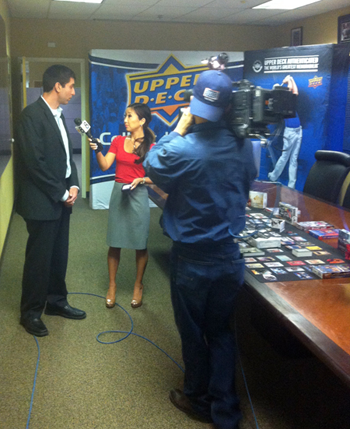 CBS-News-8-San-Diego-Visits-Upper-Deck-Headquarters-Kelly-Hessedal-Jason-Masherah-President