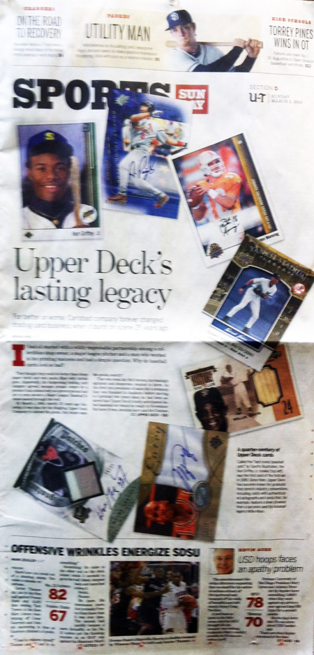 Upper-Deck-25th-Anniversary-San-Diego-Union-Tribune-Sports-Section