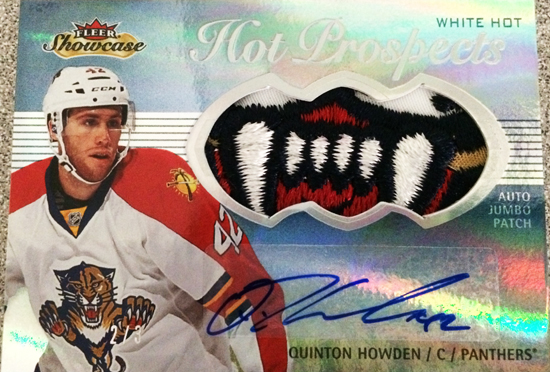 2013-14-NHL-Fleer-Showcase-Hot-Prospects-Jumbo-Autograph-Patch-Quinton-Howden