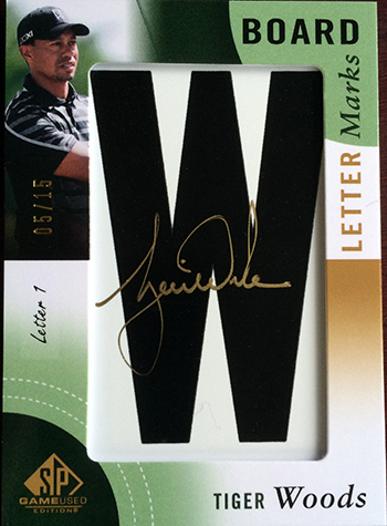 2014-SP-Game-Used-Golf-Leaderboard-Letter-Marks-Tiger-Woods-W