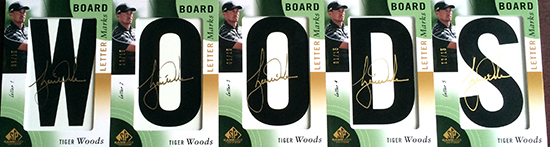 2014-SP-Game-Used-Golf-Leaderboard-Letter-Marks-Tiger-Woodsr-Full-Set-Nameplate