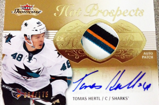 Upper-Deck-2013-14-NHL-Fleer-Showcase-Autograph-Rookie-Patch-Card-Tomas-Hertl-064