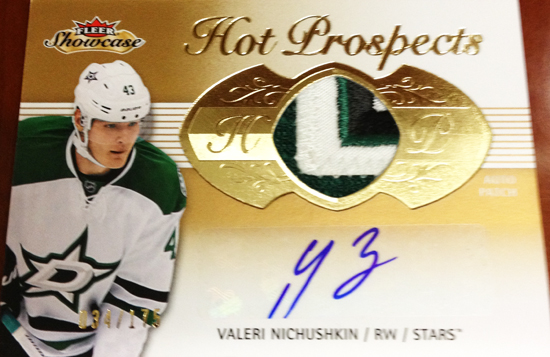 Upper-Deck-2013-14-NHL-Fleer-Showcase-Autograph-Rookie-Patch-Card-Valeri-Nichushkin-034