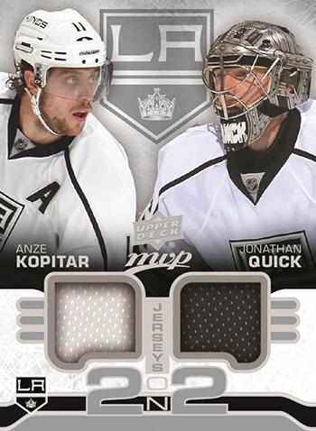 2014-15-NHL-Upper-Deck-MVP-2-on-2-Jersey-Cards-Quick-Kopitar-Kings-Front