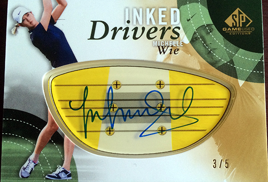 2014-SP-Game-Used-Golf-Inked-Drivers-Michelle-Wie-Yellow-Blue