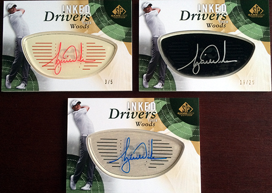2014-SP-Game-Used-Golf-Inked-Drivers-Tiger-Woods-Three-Levels-Rarity