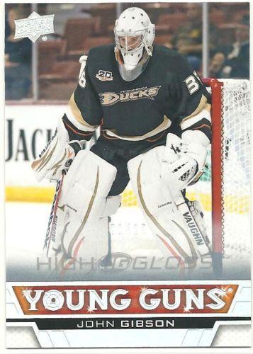 John-Gibson-Anaheim-Ducks-Goalie-Rookie-2013-14-Upper-Deck-Young-Guns-High-Gloss
