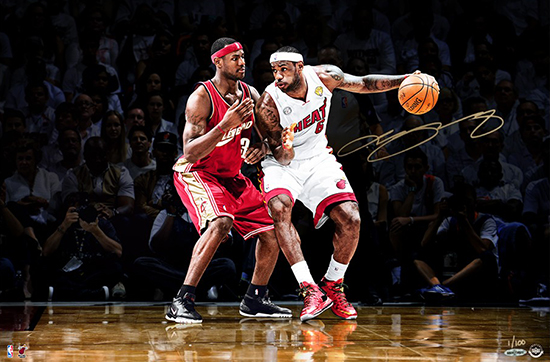 LeBron-James-Upper-Deck-Authenticated-Autographed-First-Ten-One-on-One-Photo